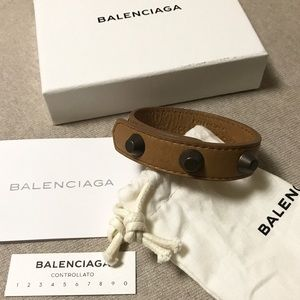 ⛔️reserved⛔️Balenciaga leather studded bracelet